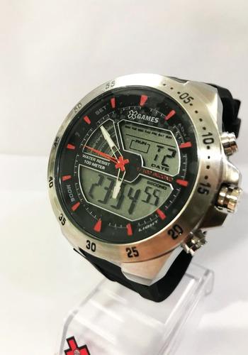 Relógio X Games Gear Masculino Preto Xmspa019 Bxpx