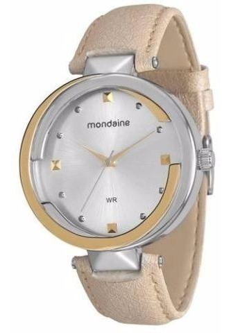 Relógio Feminino De Pulso Bege Mondaine 76405lpmvbh1