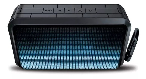 Caixa De Som Isound Durawaves Glow Xl - Preto