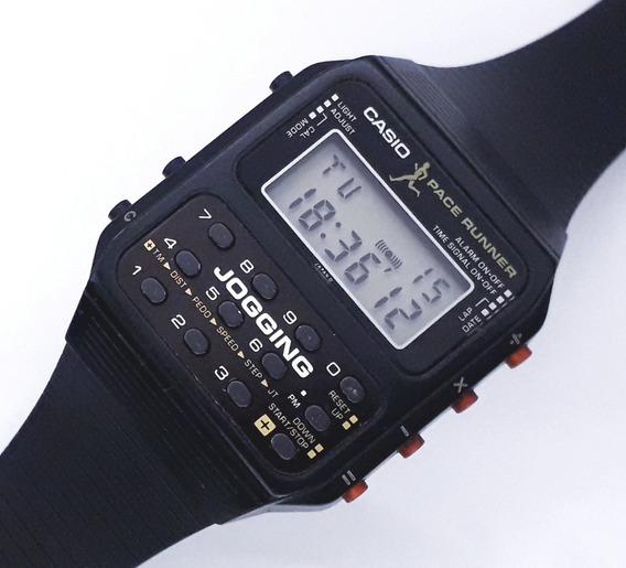 Relógio Casio Calculadora J-100 Jogging Pace Runner Anos 80