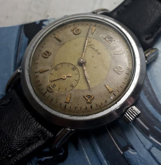 Relógio Eska Corda Manual Caixa Grande