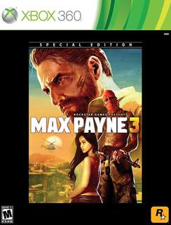 Xbox 360 Max Payne 3 Special Edition Rockstar Games Nueva