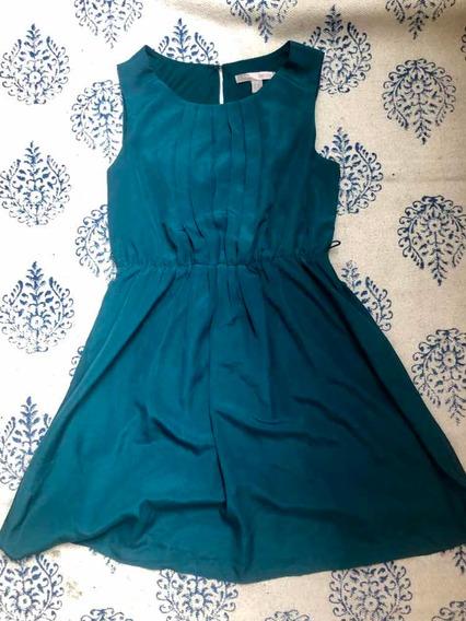 Vestido Corto Forever 21 Talle M Verde Esmeralda