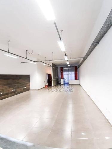 Salão Para Alugar, 140 M² Por R$ 4.500,00/mês - Parque Das Nações - Santo André/sp - Sl0955
