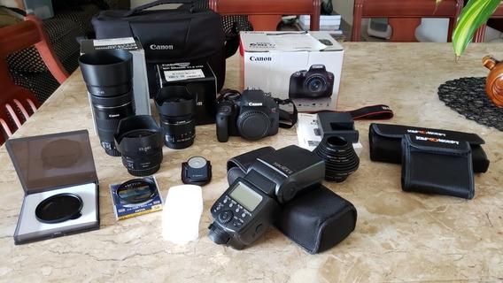 Câmera Canon T7i Completa De Tudo - Super Nova