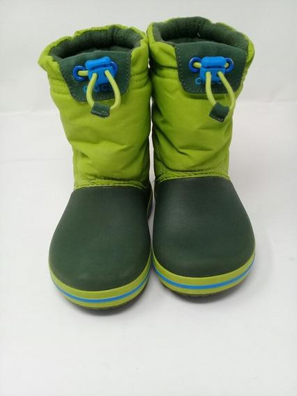 Bota Crocs Infantil Verde. La Segunda Bazar