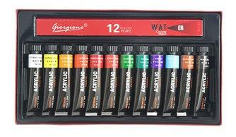 Imagen 1 de 7 de Juego De Pintura Acrílica Impermeable De 12 Colores
