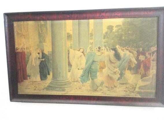 Antiguo Cuadro De A. Borsari Oleografia Pintora Italiana