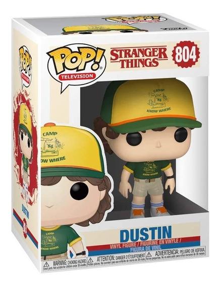 FUNKO STRANGER THINGS DUSTIN #804 CAMP KNOW WHERE POP VINYL FIGURE IN STOCK!