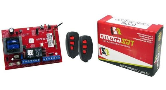 Central Placa Portão Eletrônico Omega Sat Max E 2 Controles