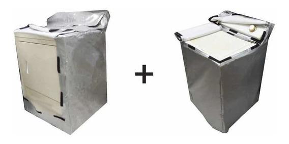 Paq 2 Pz Funda Cubierta Para Lavadora Y Secadora Con Tapa