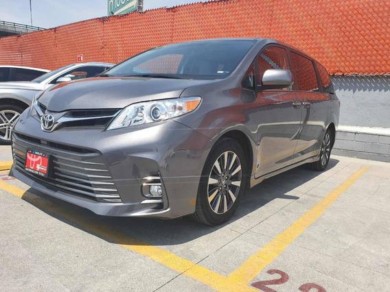 Toyota Sienna Xle Piel 2018 Gris Comonueva 3 Años D Garantia