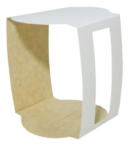 Imagen 1 de 6 de Soporte Para Taza Taz4 X 10u Packaging Blanco Madera