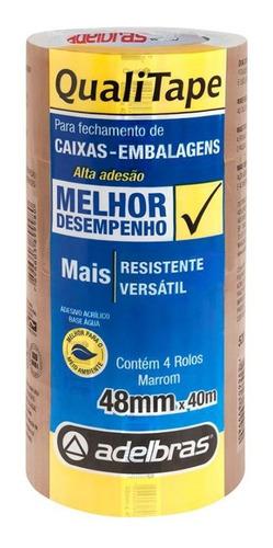 Imagem 1 de 2 de 4 Fitas Adesivas Pvc 40m X 48mm P/ Caixas De Papelão Tr/ Mr.