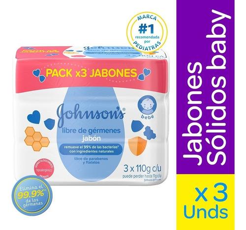 Jabon Johnsons Baby Libre Germenes X 3und