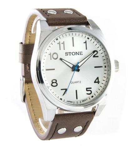 Reloj Stone Hombre Original Malla Cuero Cuotas  Promo !!!