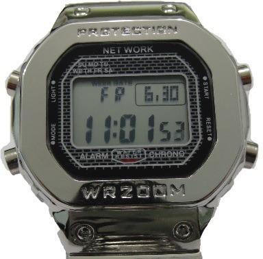Relógio Masculino Digital Aço - Network + Caixa