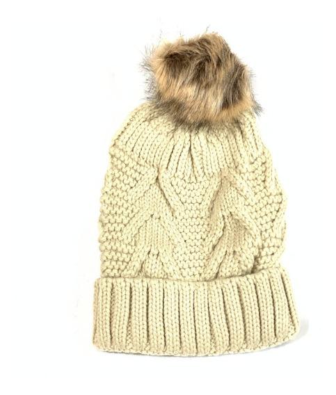 Gorro De Dama Con Ponpom Para Frio Invierno 1