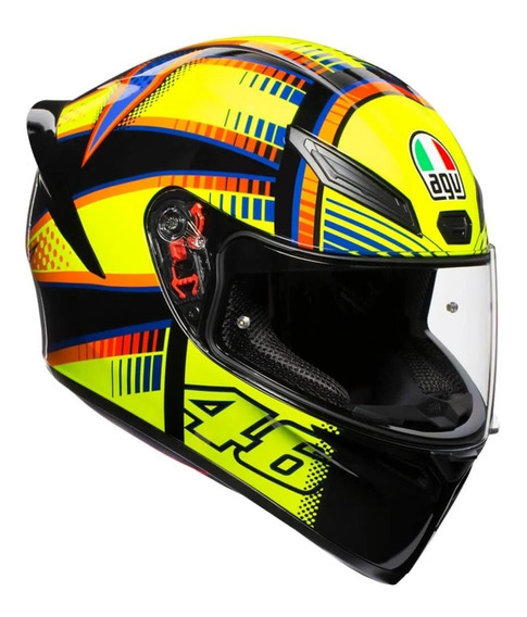 Capacete Agv K1 Soleluna Amarelo Valentino Rossi Original