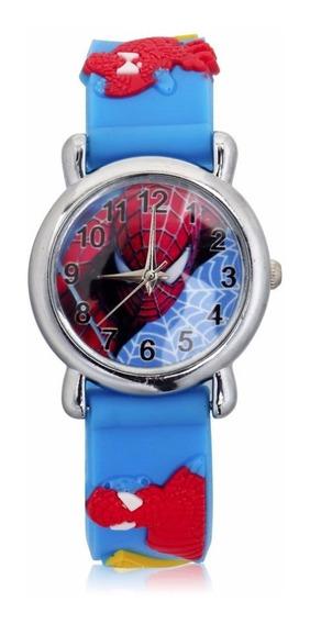 Relógio Para Crianças Modelo Homem Aranha Azul E Vermelho