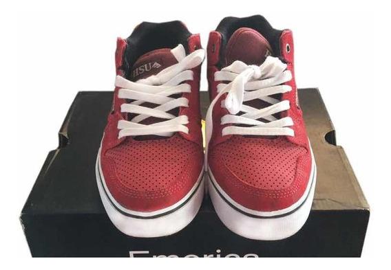 Zapatillas Rojas Emerica Hsu Skate Impecables Talle 37.5