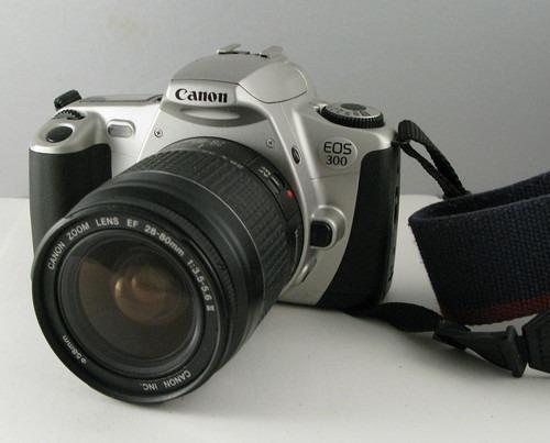 Camera Canon Eos 300 Lente 35-80+90-300m+maleta Black Friday