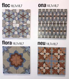 Porcelanato Piso Y Pared Volta Flora Neu Ona 18,7x18,7 Caja