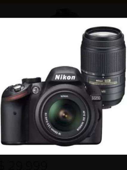 Cámara Nikon D3200 +kit 18-55 + Lente 55-300 Nikon