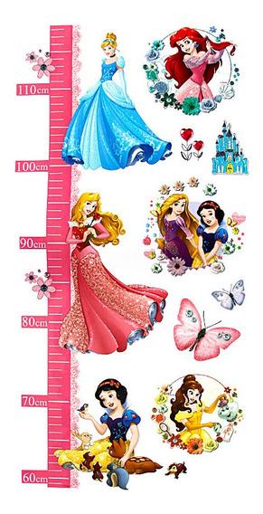 Adesivo Infantil Altura Métrica Princesas Disney