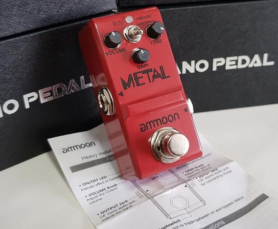 Pedal Distorção Metal Ammoon Heavy Super Pequeno Metaleiro