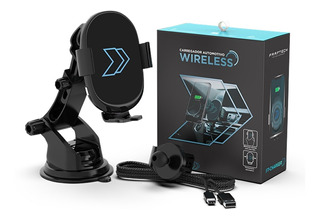 Suporte Carregador Wireless Veicular S8 S9 Note iPhone Carro
