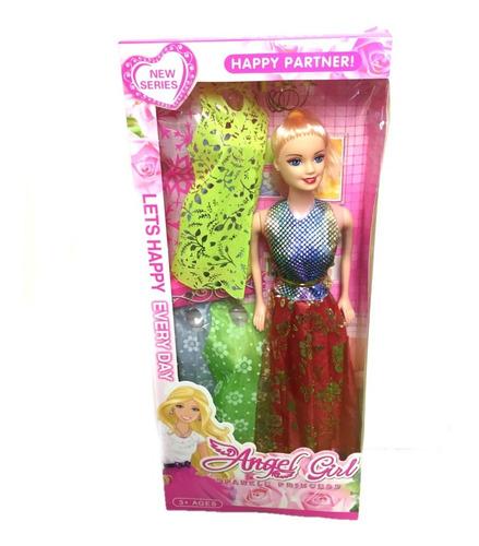 Muñeca Con Vestidos Fashion Tipo Barbie Niñas