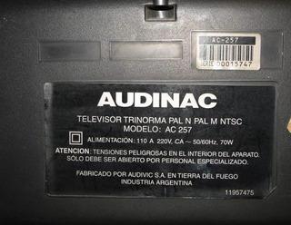 Televisor Audinac 21 Pulgas, Muy Buen Estado, Funciona!