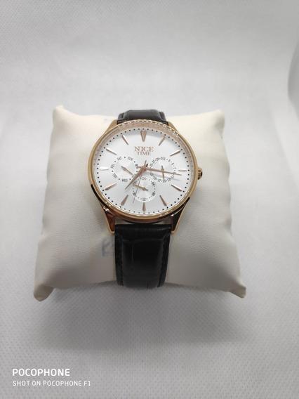 Reloj Nice Time Caballero Original Calendario Nuevo Liquidac