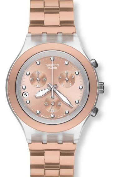 Reloj Swatch Mujer Full-blooded Caramel Svck4047ag Envio Gratis Garantia Oficial