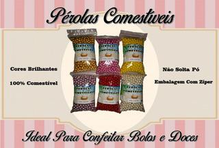 Pérola Comestível 100g - Confeito - Kit Com 5un