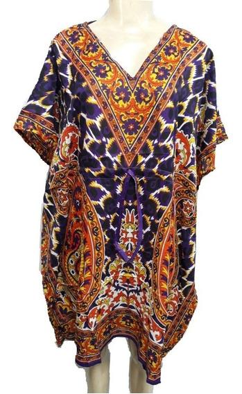 Vestido Indiano Kaftan Midi
