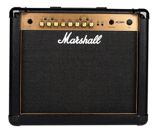 Amplificador Marshall MG Gold Series MG30GFX 30W transistor negro y oro