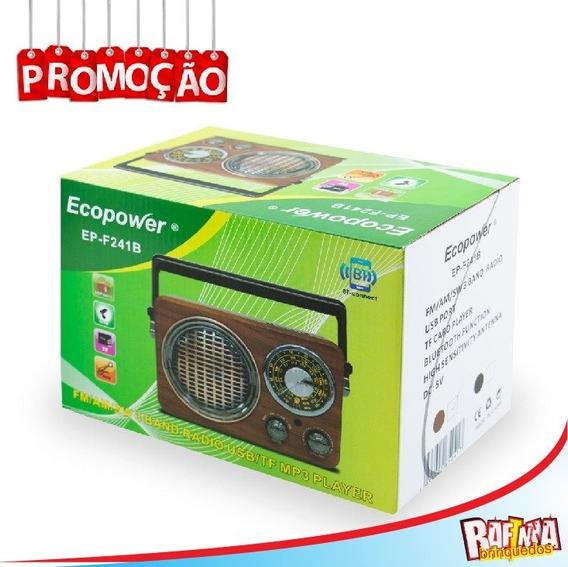 Rádio Portátil Ecopower Ep-f241-bluetooth-fm-usb