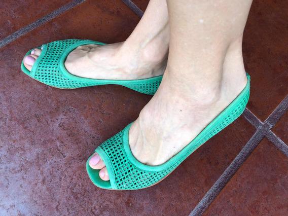 Zapatos Sin Taco Verde Menta - Natacha - Talle 38