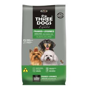 Ração Threedogs Raças Pequenas Frango E Legumes - 3kg