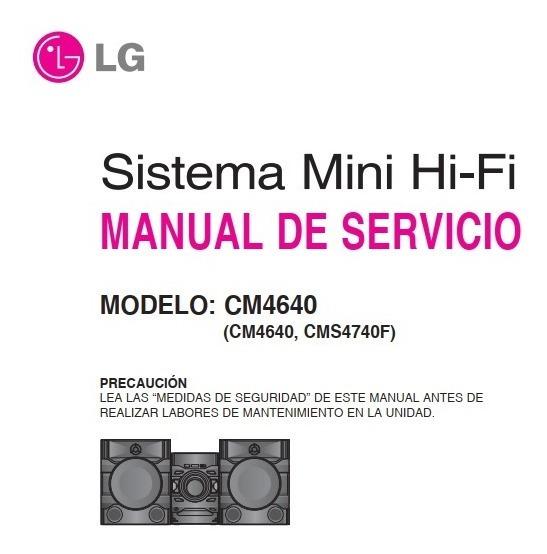 Esquema Eletrico Audio LG Cm4640 + Cms4740f (pdf)