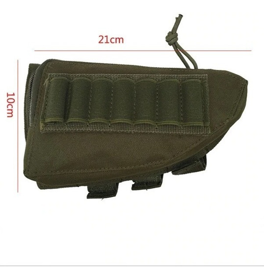 Cartuchera Tiros Escopeta Rifle P/ Culata Tactica Cazeria