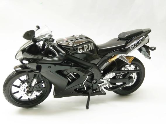 Moto Policia Gpm Bs As R1 Coleccion 1:12 Metal Calidad