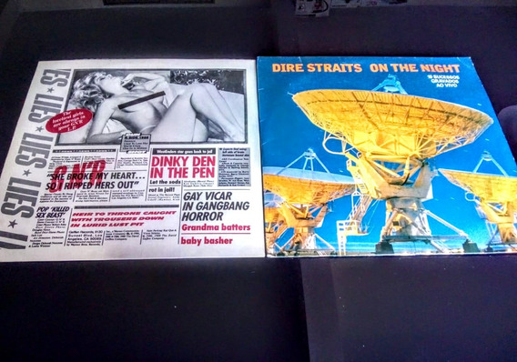 Promoção -2 Lps Guns Roses Lies / Dire Straits On The Night