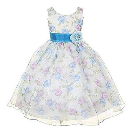 Vestido De Niiña - Kids Dream Girls Organza Floral Special O