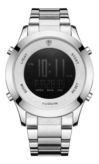 Relógio Masculino Tuguir Digital Tg103 Prata
