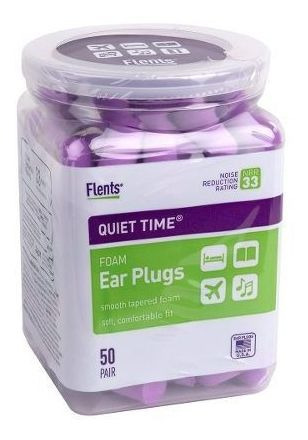 Protetor Auricular Flents Quiet Time Nrr 33 Db - 50 Pares