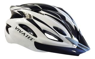 Capacete Bike Vivatec Ciclista Viseira Led Traseiro Piscante