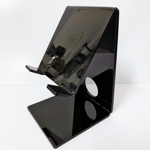 Imagem 1 de 3 de Suporte Celular Acrílico Smartphone Mesa Universal